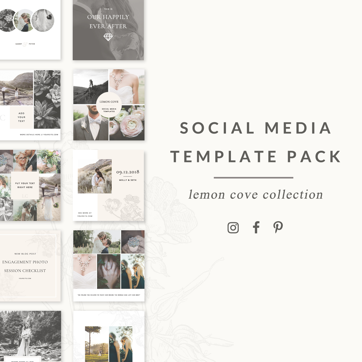 Lemon Cove Social Media Template Pack
