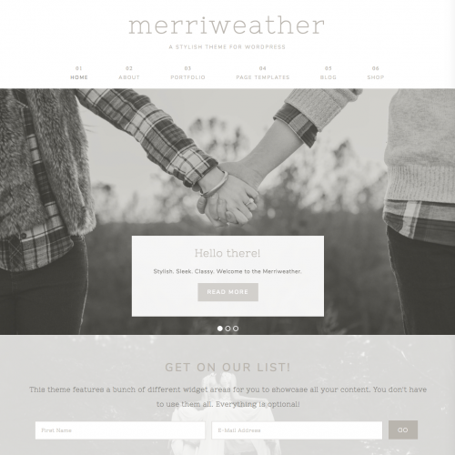 merriweather theme screenshot