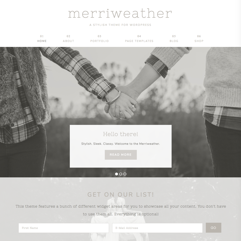 merriweather theme screenshot