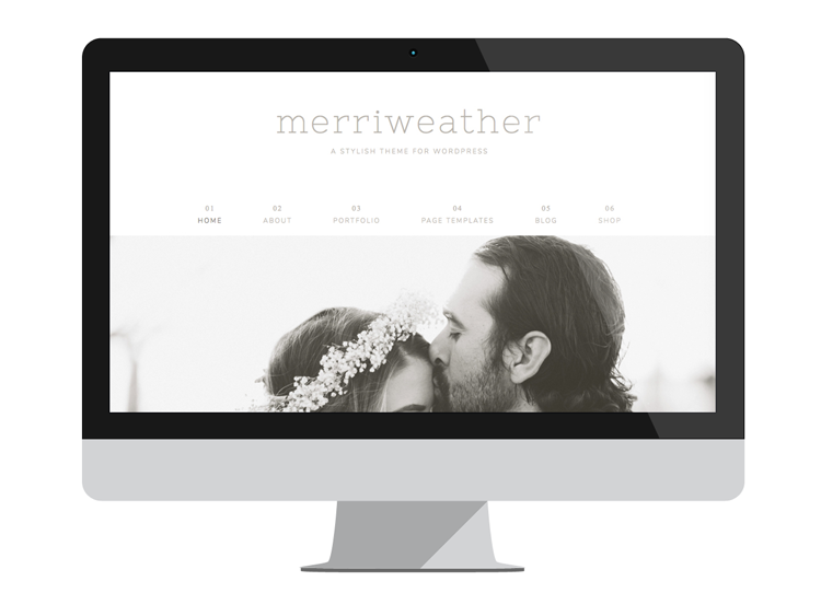 Merriweather Theme Desktop