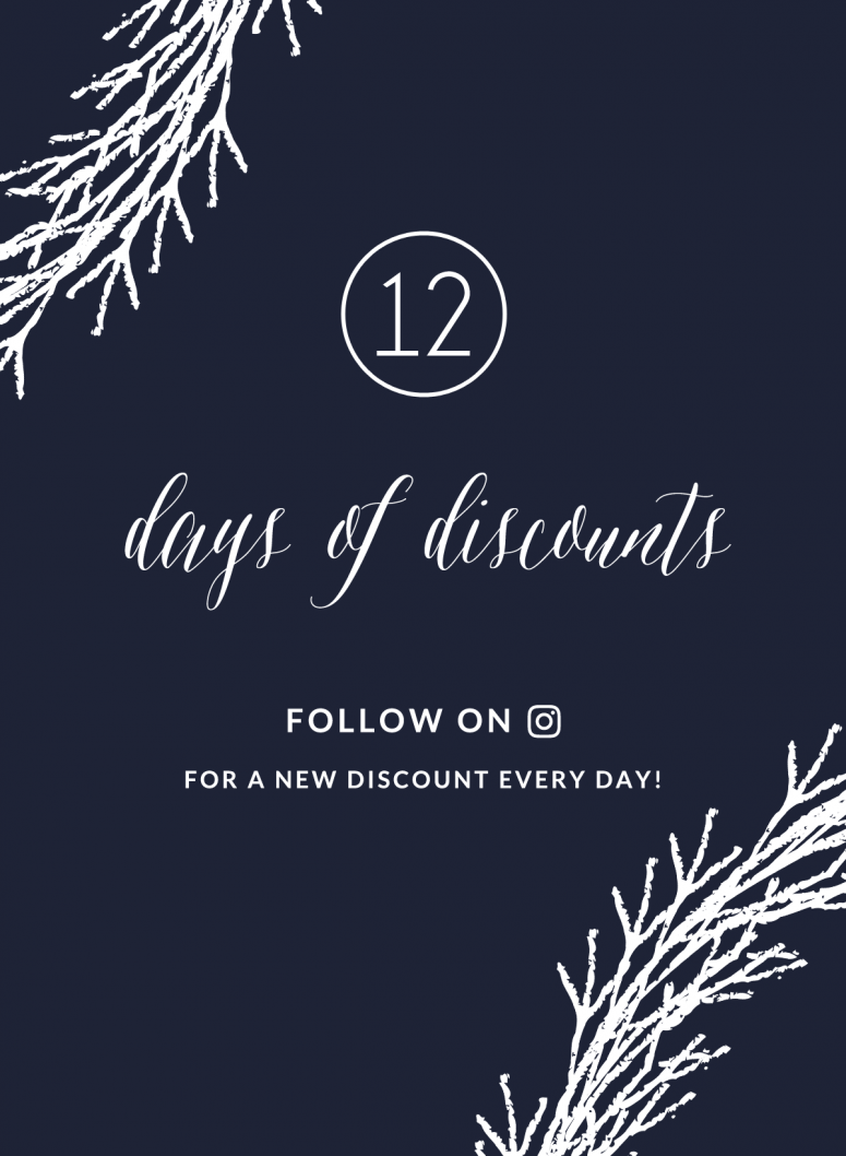 12 Days Of Discounts!