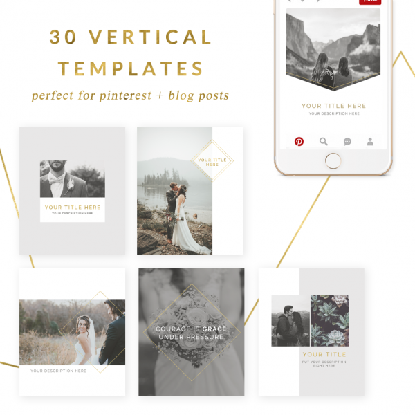 social media templates for pinterest & blog