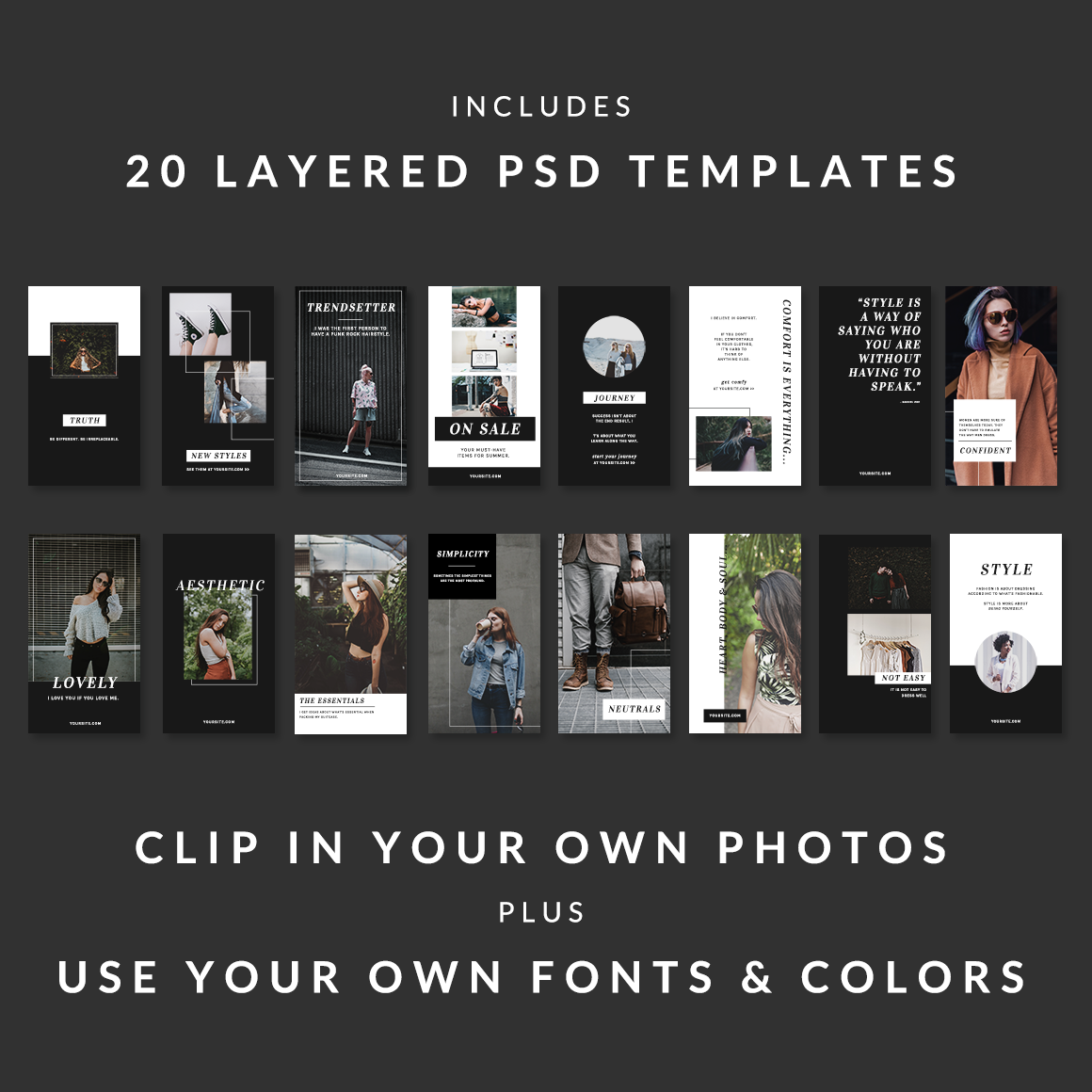 20 Chic & Stylish Templates