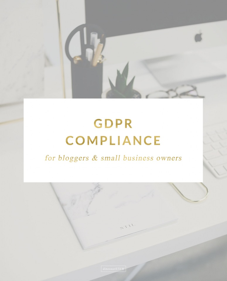 GDPR Compliance For Bloggers & Small Business Owners