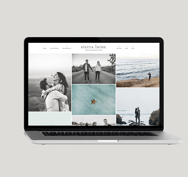 sierra laine wordpress theme
