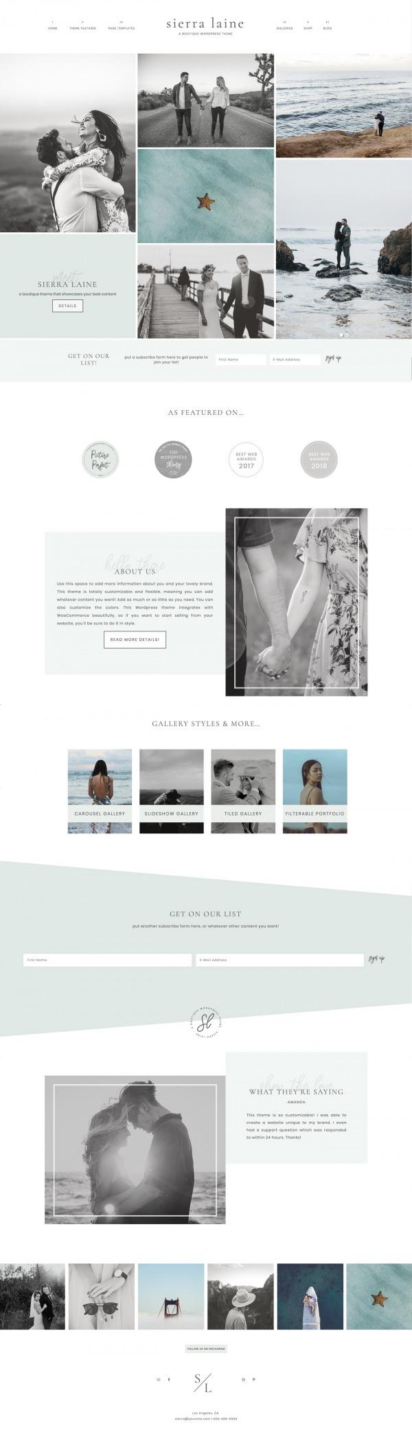 Sierra Laine Homepage
